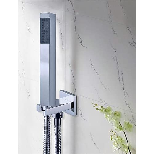 "new SAEKJJ-8""unleaded Square Head Wall Mount Brass Mixer Valve handheld Bathroom Shower set Shower Faucet Bathroom faucet"