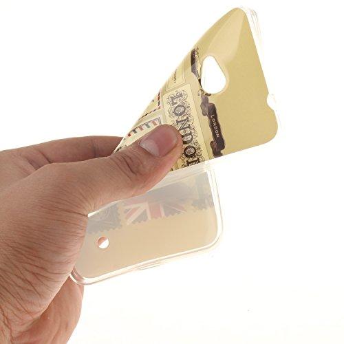 Microsoft Nokia 640 Funda,Ligero a Prueba de Choques Flexible Ultra Fino Suave TPU Parachoque Carcasa MAGQI Tecnología IMD Diseño Impreso Vendimia Serie Patrón [Absorción de Impacto] Resistente a los  Sobre de Londres