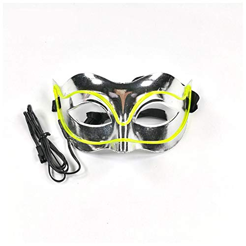 Clown Mask Glowing Creepy Mask, Halloween Costumes for Festival, Cosplay Party(Green 1888cm/Voice Switch)