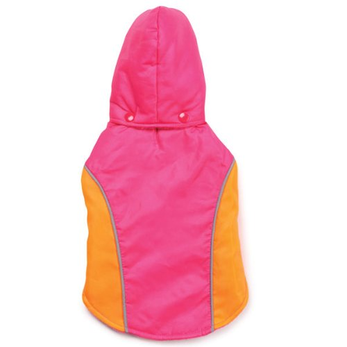 Zack and Zoey 14-Inch Polyester Blizzard Dog Jacket, Small/Medium, Raspberry, My Pet Supplies