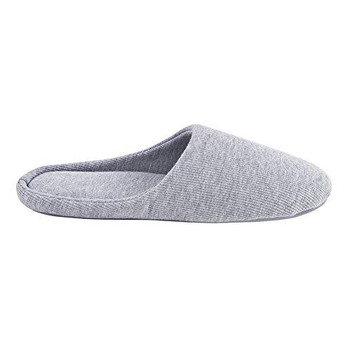 Ofoot - zapatillas de andar por casa mujer gris