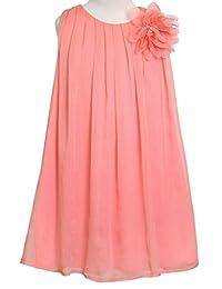 AkiDress Chiffon Rounded Neck Sleeveless Dress for Little Girl