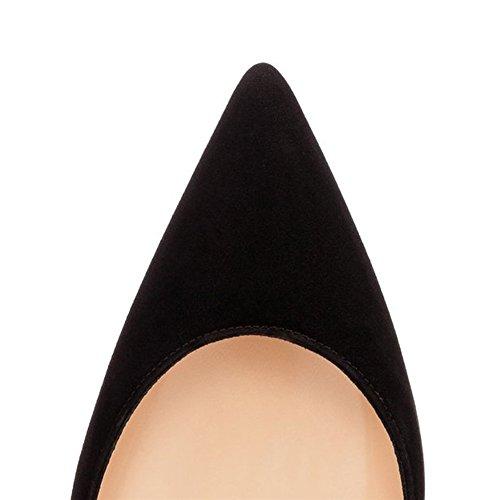 MERUMOTE - Zapatos de tacón fino Mujer Negro - Schwarz-wildleder