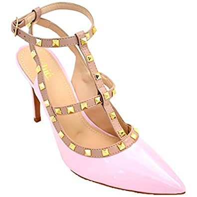 Chic Shoes Pink Heel Sandal For Women