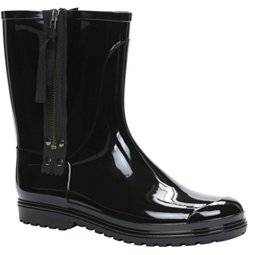 Black Rain It Boots Spring Call US Zip Side Afysa Size 7 8 xXYd6Rq