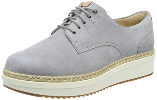 Brogues Teadale light Grey Suede Femme Clarks Rhea Gris wEqUx88SB