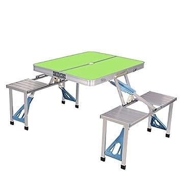 Folding table Juego de Mesa y sillas de Camping portátil con Paneles ...