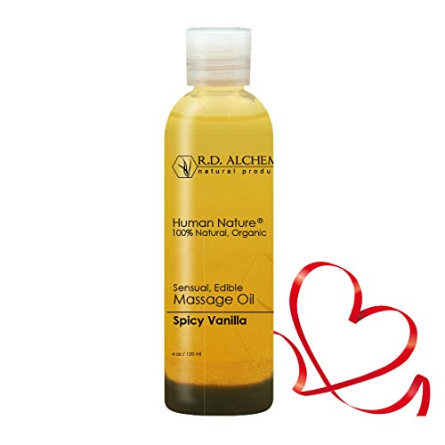 100% Natural & Organic Edible Massage Oil for Body. Best Massage Supply with Organic Essential Oils. Erotic Flavor: Spicy Vanilla - Vanilla and Cinnamon Oils (Kama Sutra Massage Oil Of Love)