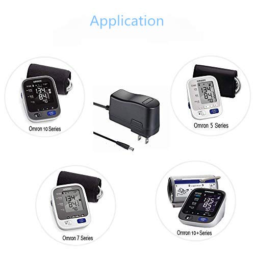 AC Adapter Charger Compatible Omron 5 7 10 Series 10 Series+ BP742N BP760N  BP761N BP785 BP785N BP756N, HEM-ADPTW5 Upper Arm Blood Pressure Monitor