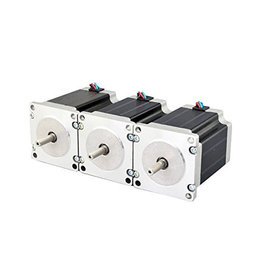 3PCS Nema 23 CNC Stepper Motor 2.8A 269oz.in 76mm Bipolar for Hobby CNC Kit
