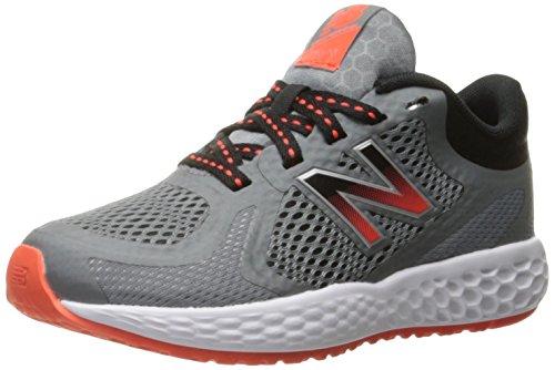 New Balance Kids' KJ720 Running Shoe, Grey/Orange, 1 Medium US Little Kid by New Balance