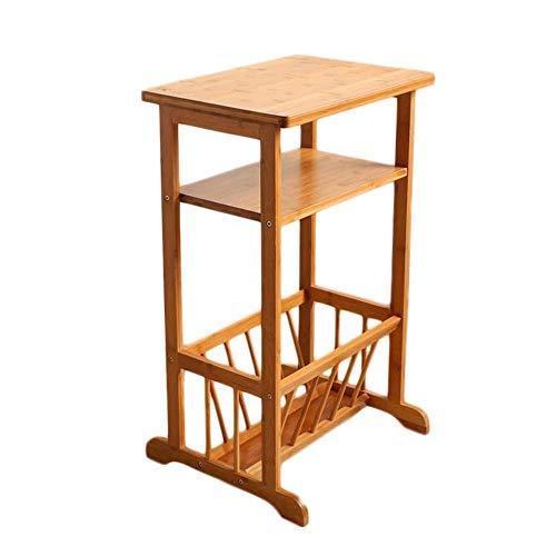 Mesa YNN Auxiliar con revistero, bambú, Robusto, 2 estantes