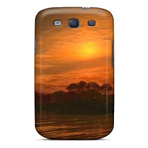 Durable Protector Case Cover With Magic River Sunset Hot Design For Galaxy S3
