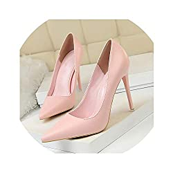 Hot Heaven Women Spring Autumn Women Pumps Fashion Office Wedding Shoes Pointed Toe Sexy Party Shoes Pink 4 5