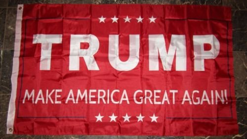 3x5 Donald Trump Make America Great Again Red Double Sided 2