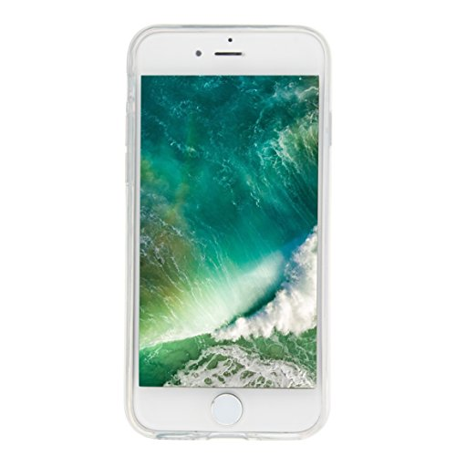 "TOCASO Silicona Suave Funda Ultra Delgado para iPhone 7 Plus / 8 Plus 5.5"" Case Funda Carcasa Case Bumper [Anti-Arañazos] Flexible Piel Resistente Slim fit Silicona Ultra suave Case líquido de silicon Oso morado"