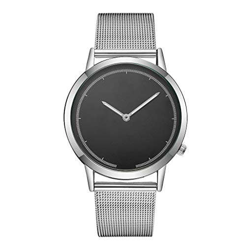 Fxbar,Mens Minimalist Milanese Mesh Band Business Wristwatch Quartz Analog Wrist Watch Dress Watch(E)