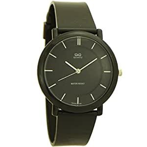 Q&Q Women's Round and Rubber Quartz Watch black and light color - 5
