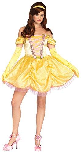 UHC Women's Disney Enchanting Princess Belle Outfit Halloween Fancy Costume, XL (Plus Size Princess Belle Costumes)