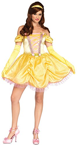 UHC Women's Disney Enchanting Princess Belle Outfit Halloween Fancy Costume, XL (14-16)