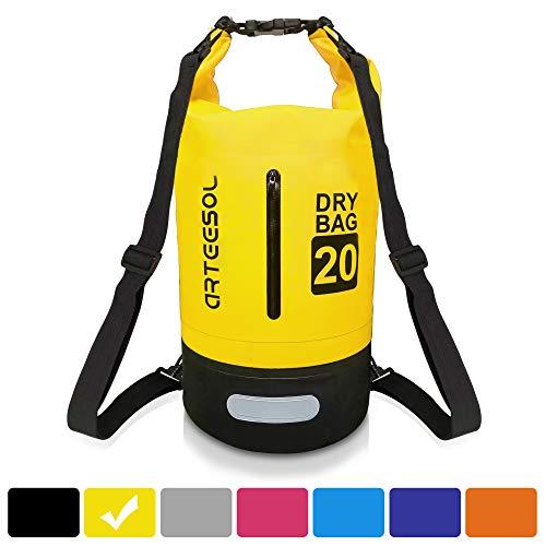 arteesol Waterproof Dry Bag, 5L/10L/20L/30L Waterproof Backpack Dry Sack Rucksack, Swim Bag with Adjustable Shoulder…