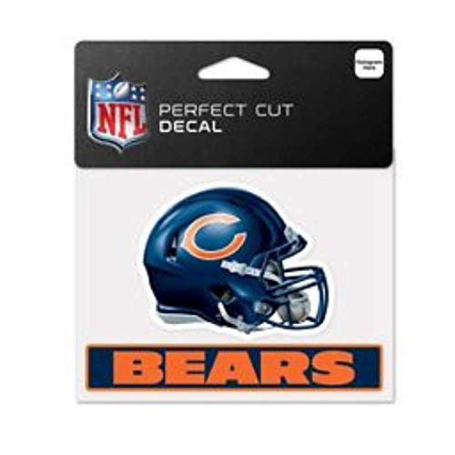 Licensed Professional Football Teams 4 x 5 Cling Decal for Cars, Windows and More, Helmet (Chicago Bears) (Bears Bumper Sticker)