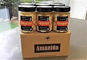 AMANIDA GOURMET - Ajo Blanco - muy suave y sin olor - tarros de ...