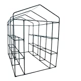 MTB Outdoor Portable Walk-in Garden The Greenhouse 2 Tiers 12 Shelves with PVC Cover - 84Lx56Wx77H