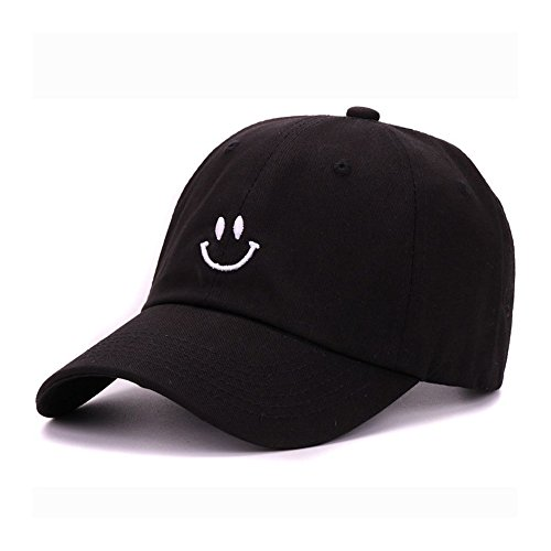 Cap Happy Face (Smiling Baseball Cap Adorable Sun Caps Fishing Hat for Men Women Unisex-Teens Black)