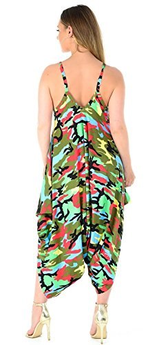 Manche Print Imprimé Combinaison Unique 21fashion Gris Multi Taille Camo Femme Sans TfUWqwt