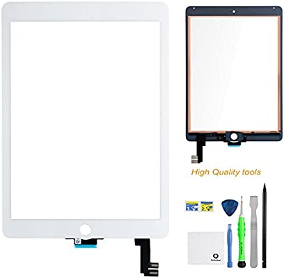 BisLinks/® For Apple iPad Air 2 Touch Screen Digitizer Glass Black 6 Gen A1566 A1567 Tools