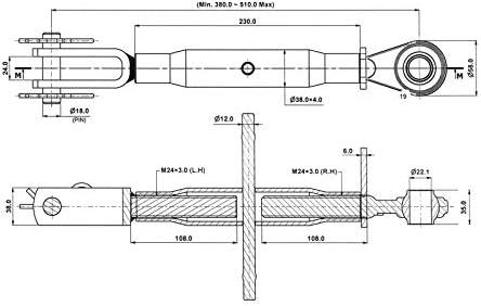 Dema Unterlenker Stabilisator M24x3 380 510 Mm Baumarkt