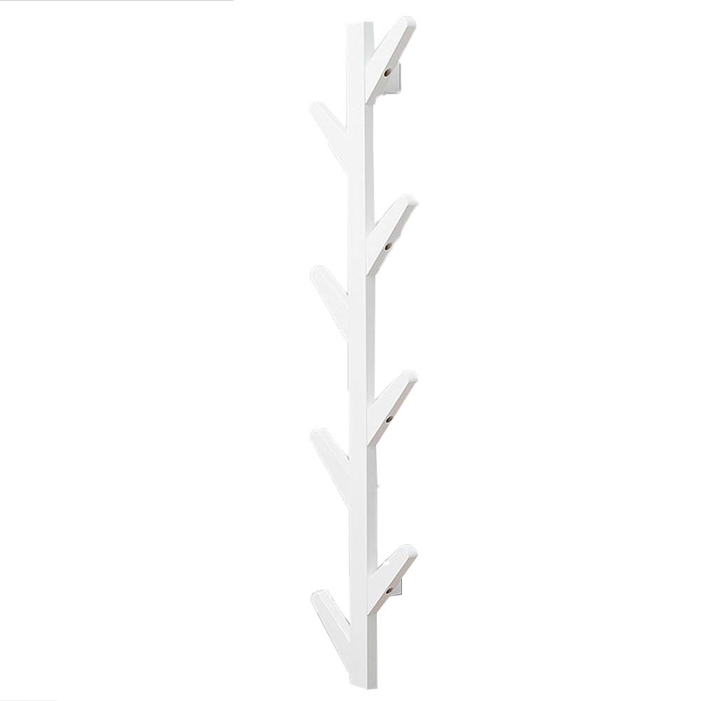 JIANFEI Wall Mounted Coat Rack Hanger Tree Type,Bamboo 3 Colors 3 Size (Color : White, Size : 7x25x98cm)