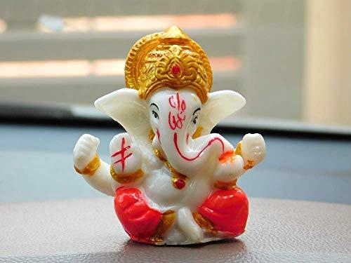 Virom Crystal Lord Ganesha Idols, Small, White, 1 Piece