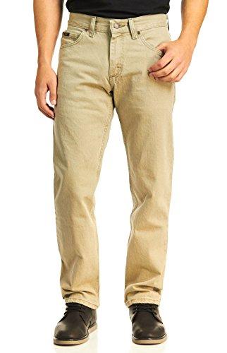 LEE Men's Regular Fit Straight Leg Jean, Wheat, 33W x 29L