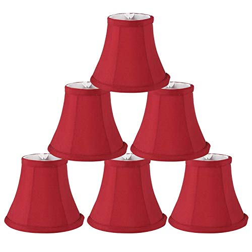 Red Candle Lamp Shades Bell Clip On Light Shades Chandelier