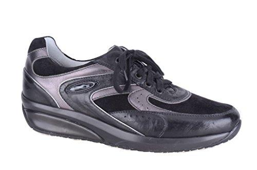 Nero Giardini Sneaker Pelle/Camoscio Uomo A201400U Rodeo Nero