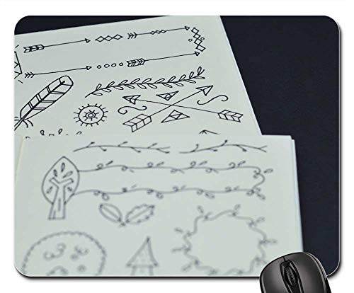 Mouse Pads - Sketch Drawing Address Book Notebook