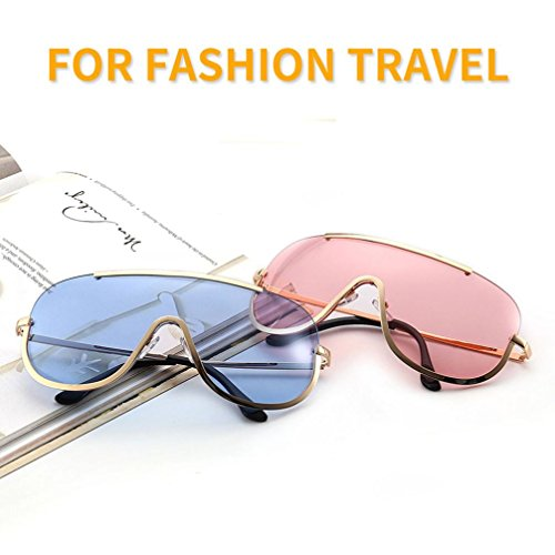 moda de Amarillo sol gafas de Gafas Rawdah mujer moda de Aviador Gafas espejo retro sol unisex Aviator gafas sol awxpOB