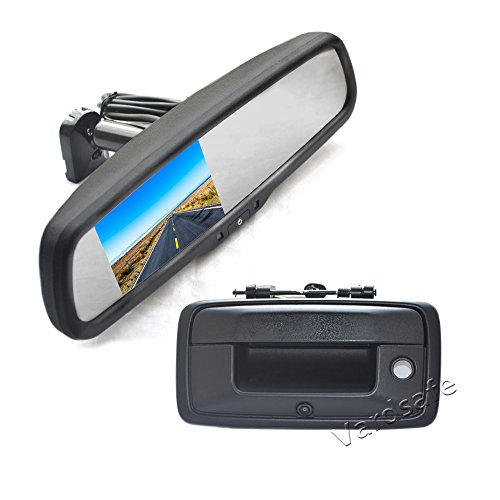 Handle Tailgate Chevrolet Silverado 1500 (Vardsafe | Tailgate Handle Backup Camera + Replacement Rear View Mirror Monitor For Chevrolet Silverado 1500 2500 3500 (2014-2017))