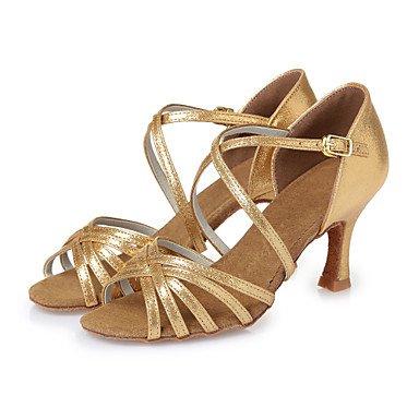 mujeres piel sintética directa cuero CL29 de dorado baile rojo de de zapatos las oro interior sintético Stiletto Latina nbsp;CL43 tacón talón Misteriosa vtpdnFxzwn