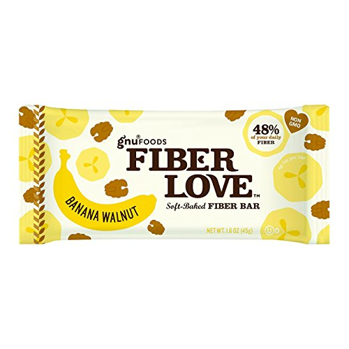 NuGo Nutrition Bar - Fiber dLish - Banana Walnut - 1.6 oz Bars - Case of 16 - Dairy Free - Yeast Free - Vegan