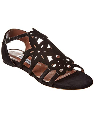 Tabitha Simmons Ramble Suede Sandal, 39, Black for sale  Delivered anywhere in USA