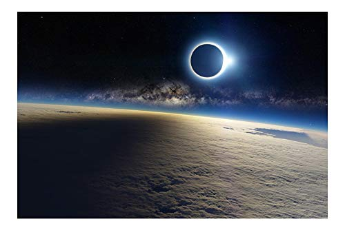 ECLIPSE SHOT ABOVE THE CLOUDS poster 24X36 awesome imagery MILKY WAY rare by HSE