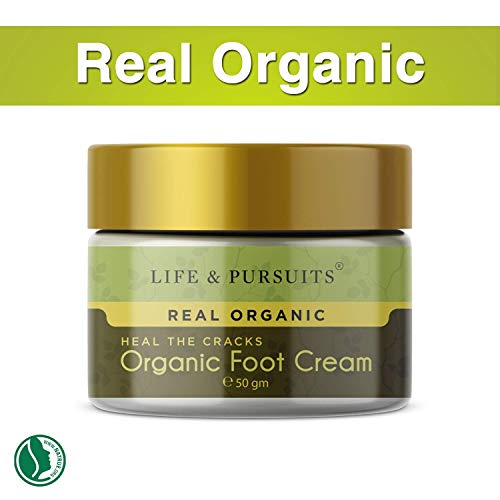 Life & Pursuits: Organic Foot Cracks Healing Cream (1.76 oz / 50gm) for Rough, Dry and Cracked Heel ()