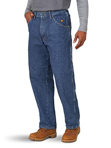 Wrangler Riggs Workwear Men's Flame Resistant Carpenter Jean, denim, 35x30 from Wrangler Riggs Workwear