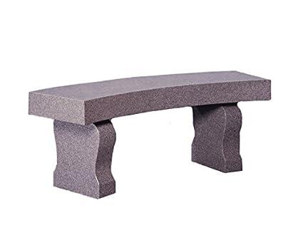Superb Amazon Com Granite Curved Bench Garden Outdoor Ibusinesslaw Wood Chair Design Ideas Ibusinesslaworg