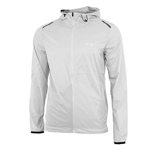 Oakley Windbreaker - Oakley Link Icon Windbreaker Golf Jacket 2018 Light Gray X-Large