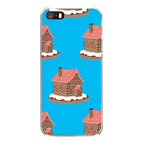 "Disagu Design Case Schutzhülle für Apple iPhone 5s Hülle Cover - Motiv ""Lebkuchenhaus - Blau"""