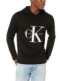 Calvin Klein Mens Standard Reissue Logo Hoodie